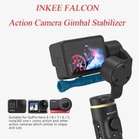 INKEE FALCON Action Kamera Gimbal Stabilisator Handheld für OSMO Insta360 GoPro Hero 10 9/8/7/6/5 3-Achse Anti-Schütteln wireless