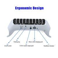 Mini Tastatur Für Controller Wireless Kompatibel Unterstützung-Bluetooth Externe Tastatur Für Playstation 5 PS5 Zubehör Gamepad