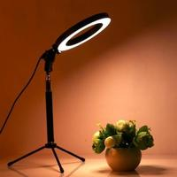 20cm/26cm LED Selfie טבעת אור צילום RingLight עבור איפור וידאו עם Dimmable חצובה טלפון Stand מנורה מעגל למלא אור