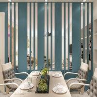 간단한 라인 아크릴 3D 벽 스티커 DIY 배경 거울 스트립 천장 허리 라인 거실 식당 아트 홈 장식 20 개