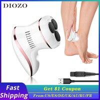 DIOZO-휴대용 전기 풋 파일, 각질 굳은살 제거기 발 페디큐어 풋 그라인더 풋 케어 도구 뒤꿈치 파일 그라인딩