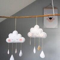 북유럽 스타일 펠트 클라우드 얼굴 키즈 바람 종소리 구름 매달려 장식 어린이 룸 장식 북유럽 장식 룸
