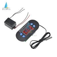W1308 AC 220V DC 12V Digital Temperature Controller Cool Heat Thermostat Switch NTC 10K Sensor For Fridge Freezer Incubator