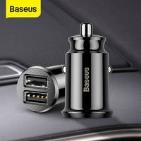 Baseus 12V Dual USB Auto Ladegerät 3,1 EINE Schnelle Lade Für Iphone Samsung Mini USB Auto Ladegerät Auto-ladegerät Zubehör