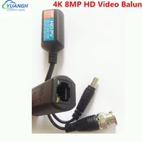 10 Pairs 4K 8MP HD Video Balun Passive Übertragung Twisted Pair Transmitter BNC Zu RJ45 Balun Für HDCVI TVI AHD Kamera