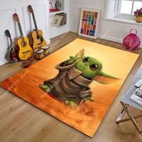 120x160cm Star Wars Yoda Baby Play Mat Carpet Living Room Bedroom Decor Children Mat on The Floor Boys Room Hallway Large Rug