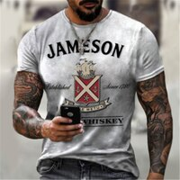 Summer pattern 3d printed T-shirt 2021 new handsome fashion men's street casual trendy sweatshirt male O-neck