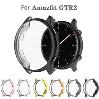 Huami Amazfit GTR 2 A1951 용 울트라 슬림 프로텍터 케이스 GTR2 보호용 범퍼 쉘용 울트라 슬림 소프트 할로우 아웃 시계 커버