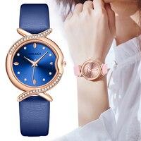 Luxury Fish tail Dial Watches Women Fashion Quartz Leather Wristwatches Elegant Ladies Watch Simple Female Clock Zegarek Damski