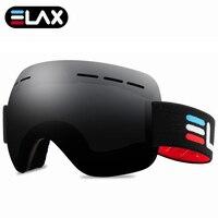 ELAX MARKE NEUE Outdoor Sport Ski Goggles Ski Maske Ski Brille Schnee Snowboard Googles Männer Frauen Schneemobil Brillen