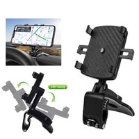 180 תואר לוח מחוונים רכב טלפון מחזיק Smartphone הר טלפון סוגר תמיכה אוטומטי Mobilephone GPS קבוע מחבט