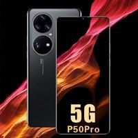Globale Version P50 Pro Smartphones Dual SIM 6,7 Zoll 6800Mah Andriod 10,0 Deca Core MTK6889 32MP 512GB ROM cellular handys