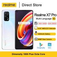 Realme X7 Pro 5G Handys 6.55 ''FHD + Dimensity 1000 Plus Octa Core NFC Smartphones 64MP Kamera 50W SuperDart Ladung 4500mAh