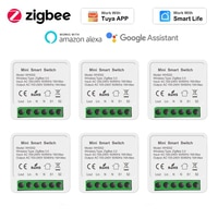 16A Zigbee 3.0 DIY 미니 스위치 Tuya 스마트 라이프 타이밍 무선 제어 릴레이 자동화 모듈 Alexa Google 홈과 함께 작동