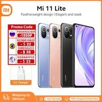 Globale Version Xiaomi Mi 11 Lite 64GB/128GB Smartphone Snapdragon 732G Octa Core 64MP Hinten Kamera 4520mAh Mi 11 Lite Telefon