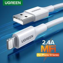 Ugreen MFi USB Kabel für iPhone 13 12 Pro Max Blitz Schnelle Ladegerät Kabel für iPhone Ladegerät iPad Mini Telefon ladekabel