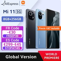 【World Premiere】Global Version Xiaomi Mi 11 Smartphone 8GB RAM 256GB ROM Snapdragon 888 Octa Core 55W Schnelle ladung 120Hz AMOLED
