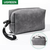 UGREEN – sac de rangement en cuir, pour écouteurs filaires, écouteurs, câble USB, chargeur de téléphones portables, accessoires numériques PC