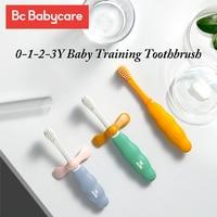 BC 베이비 케어 개 어린이 소프트 트레이닝 칫솔, 어린이 미끄럼 방지 칫솔, 아기 3 단계 안전 치과 구강 관리 도구