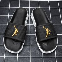 Summer Home Men Slippers Simple Solid Lovers Plarform Shoes Non-slip Indoor Outdoor Bathroom Soft Sole Slides Flip Flops