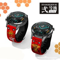 에반게리온 Shogoki EVA 01 02 팔찌 Smartwatch 밴드 22mm 20mm 실리콘 스트랩 화웨이 GT 2 2E 매직 시계 2 42mm 46mm