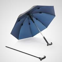 Creative מקל טיפוס מטריית ידית ארוכה גברים מטריית מטריית זכר החלקה הליכה מקל זכר Windproof מטריות גשם הילוך