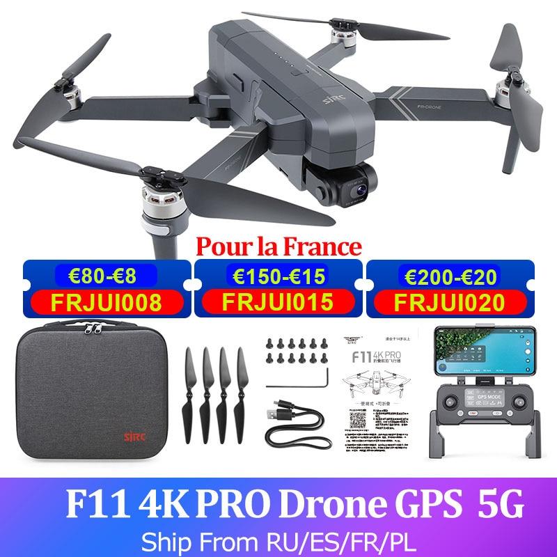 SJRC F11 PRO-Dron con cámara 4K, GPS, 2 ejes, cardán sin escobillas, cuadricóptero FPV 5G, cámara HD, helicóptero, 28 minutos, 1,5 km de vuelo