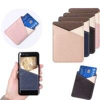 1PC חדש אופנה מזהה אשראי כרטיס בעל דבק מדבקת טלפון נייד ארנק כיס אלסטי הסלולר כיס מקל-על כרטיס תיק