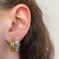 Smile Face okrągłe kolczyki koła geometryczne 2021 nowy unikalny projekt szczęśliwy obliczu biżuteria
