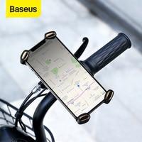 Baseus אופני טלפון מחזיק אוניברסלי אופנוע אופניים טלפון מחזיק כידון Stand הר סוגר הר טלפון מחזיק עבור iPhone