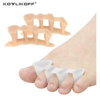 모든 발가락을 분리하는 부드러운 실리콘 발가락 분리기, 엄지 뼈 외반증 교정기 교정기 정형 외과 삽입 패드