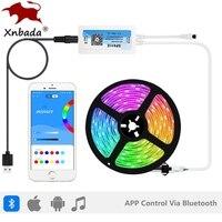 WS2812B RGB LED Light Strip Pixels Controller SP611E Bluetooth Music APP IR 38Keys Control USB Kit DC5V-24V