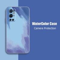Aquarell Weiche TPU Silikon Telefon Fall Für OnePlus One Plus 8 9 Pro 8T 9R Nord 2 5G bunte Zurück Abdeckung