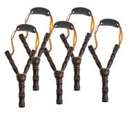 5 대나무 나무 Slingshot 어린이 야외 사냥 장난감 게임 세트 높은 속도