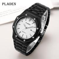 PLADEN-흑백 탑 남성용 시계, 클래식 로얄 럭셔리 자동 손목 시계, AAA +, 2020 년 인기 상품