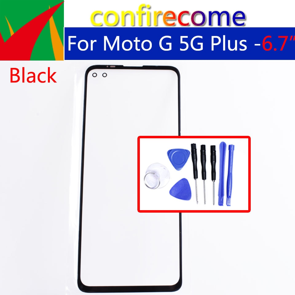 Pantalla táctil LCD para teléfono móvil Motorola Moto G 5G Plus XT2075, Panel de cristal exterior frontal, reemplazo de lente