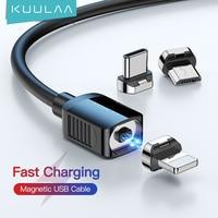 KUULAA Magnetische Kabel USB Typ C Kabel Micro USB C Kabel Für iPhone Xiaomi Samsung Magnet Telefon Ladekabel USBC draht