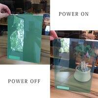 SUNICE-21x29.7CM 녹색 전환 가능 PDLC 매직 필름, 스마트 소재 창 유리 접착 필름, 홈 오피스 룸 파티션 개인 정보 보호