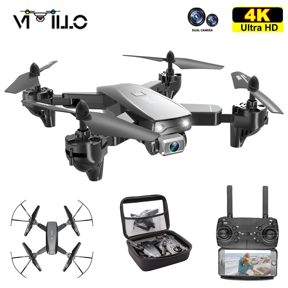 Vimillo-Mini Dron profesional Con cámara Dual de HD, cuadricóptero Con WIFI, FPV, 4K, regalo Vs S167 SG107