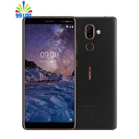 RefurbishedUnlocked Original Nokia 7 Plus 4GB + 64GB Qualcomm660 Single/Dual SIM 6inch Volle Bildschirm Dual kamera Fingerprint 4G-LTE