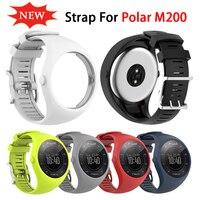 다채로운 실리콘 교체 조절 시계 스트랩 소프트 팔찌 밴드 팔찌 폴라 M200 남성 여성 스마트 액세서리