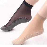 10Pairs Hohe Qualität Frauen Socken Samt Seide Frühling Sommer Socken Atmungsaktive Weiche Baumwolle Boden Wicking Slip-resistant Kurze socke