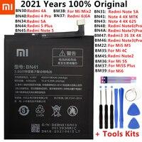 Xiao Mi Original Telefon Batterie Für Xiaomi Redmi Hinweis 4 4X 4A 5A 6 6A 7 3 Pro 3S 3X Mi 5 6 4S Mi 2 5S Plus Ersatz batterien