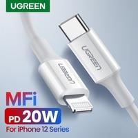 Ugreen MFi USB Typ C zu für Blitz Kabel für iPhone 12 Mini Pro 11 8 20W PD Schnelle lade Daten Kabel für Macbook Pro IPad