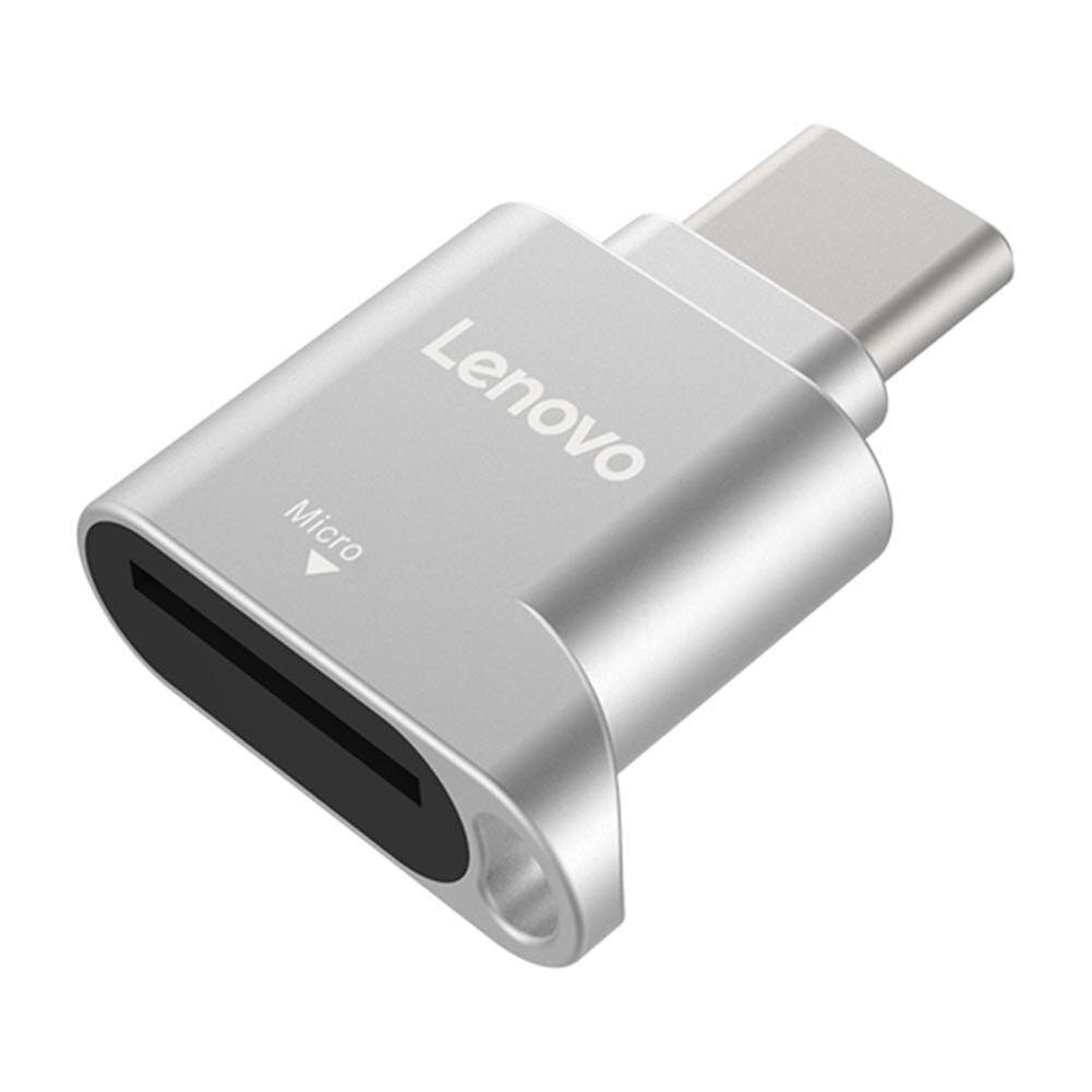 Lenovo-lector de tarjetas D201, USB tipo C, 480Mbps, 512GB, USB-C, TF, microSD, adaptador de tipo OTG-C, tarjetas de memoria TF para ordenador portátil y teléfono
