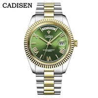 CADISEN 2021 Men Watches Swimming 10Bar Waterproof Screw Crown Japan Miyota Movement Mechanical Watch Newest Version Wristwatch