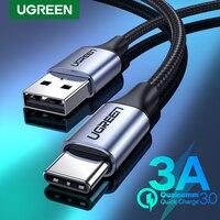 UGREEN USB Typ C Kabel für Xiaomi Samsung S21 S20 USB C Kabel 3A Schnelle Lade Typ C Telefon Ladegerät daten Draht Cord USB C Kabel