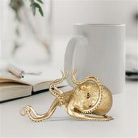 1PC Creative תמנון סוגר זהב תמנון עצלן נייד טלפון סוגר קטן בעלי החיים קישוטי בית שולחן קישוט מלאכות
