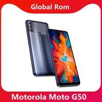 Globale Rom Lenovo Moto G50 5G Smart Telefon 5000mAh Batterie 6.5 ''90Hz Bildschirm Snapdragon 4350 48MP wichtigsten Kamera Google Play Store