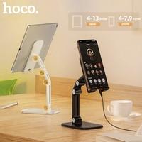 HOCO מתכת שולחן העבודה Tablet מחזיק מתקפל להאריך תמיכת שולחן נייד מחזיק טלפון סטנד מתכוונן עבור iPhone iPad Xiaomi שולחן